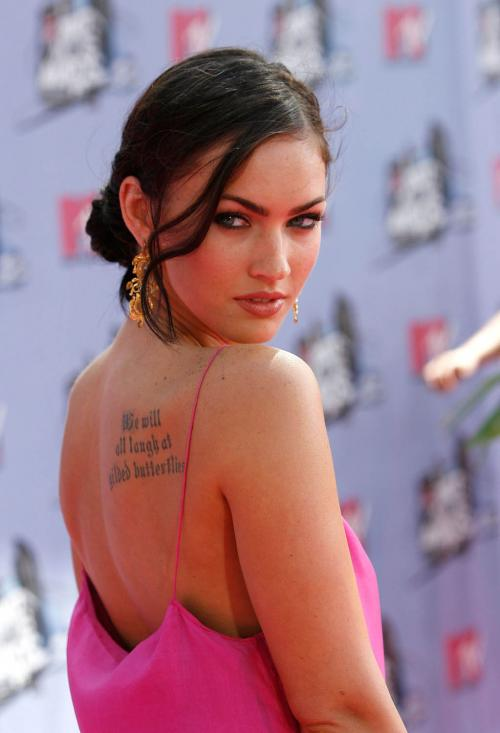 Megan Fox Tattoos below